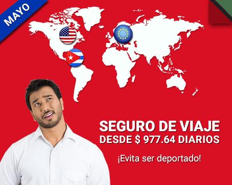 ¡Seguros de viaje obligatorios desde 1,5 u$s diarios!