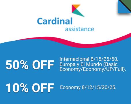 10% OFF Cardinal Assistance