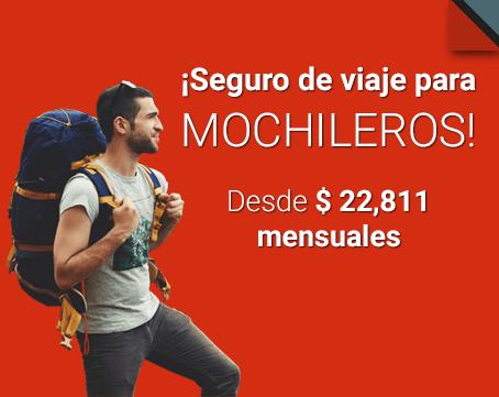 Seguro de viaje para mochileros desde u$d 35 mensuales