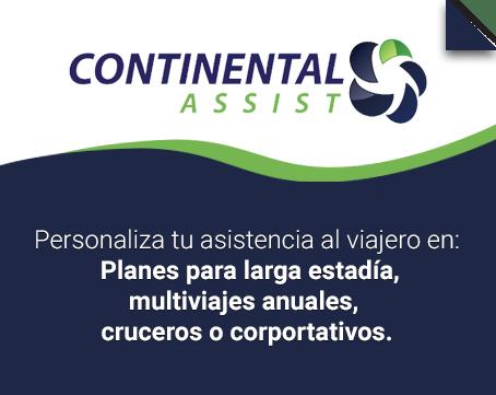 Selecciona tu seguro de viaje de Continental Assist