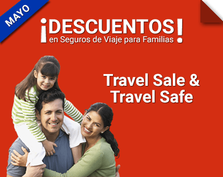 ¡Durante julio Travel Sale & Travel Safe en seguros de viaje familiares!
