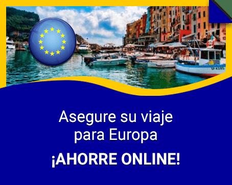 Seguro de viaje para Europa. Cotiza online y ¡ahorra!