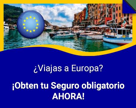 Seguro de viaje para Europa ahorra hasta 50%