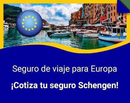 Seguro de viaje Schengen obligatorio para Europa
