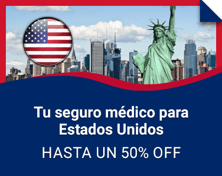 Seguro médico para Estados Unidos ¡hasta 50% OFF!