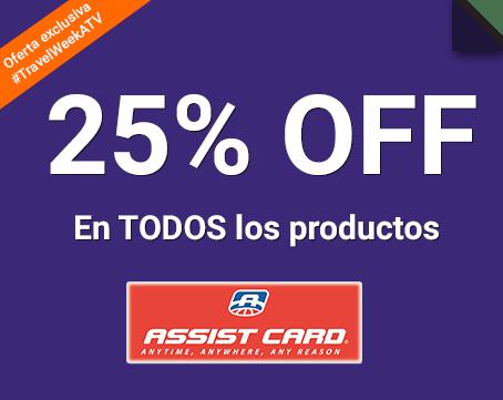 25% Off en todos los productos Assist Card