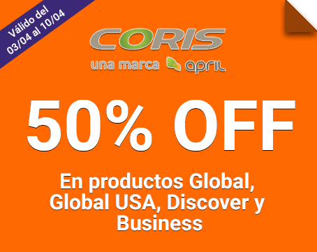 50% OFF en sus planes Global, Global USA, Discover y Business