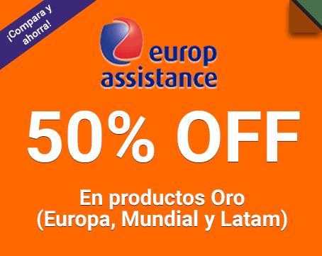 50% Off en los productos de Europ Assistance