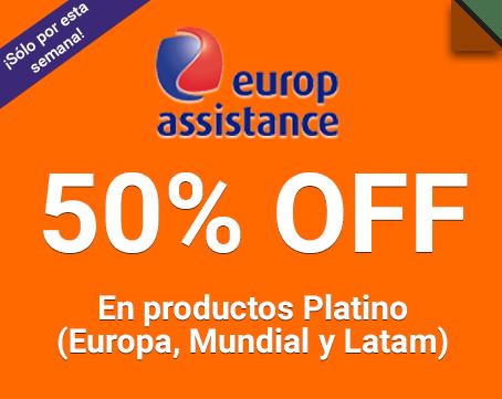 Europ Assistance 50% de descuento